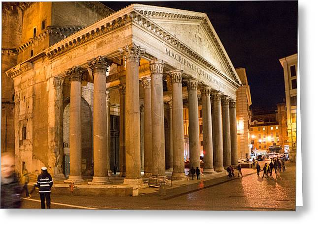Greeting Card featuring the photograph The Pantheon by Mike Evangelist