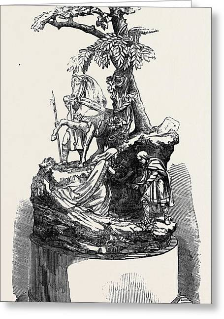 The Paris Universal Exhibition Silver Group Warwick Race Greeting Card