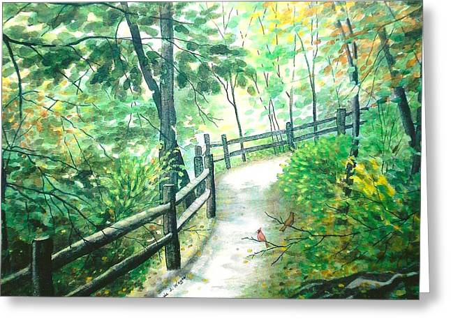 The Park Trail - Mill Creek Park Greeting Card