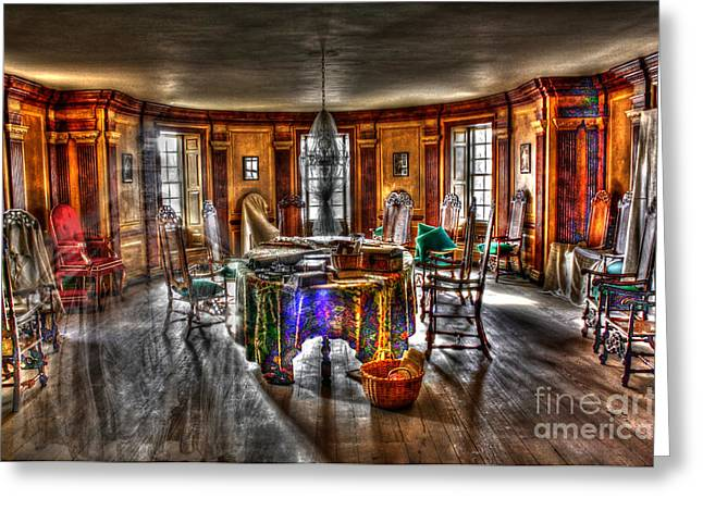 The Parlor Visit Greeting Card by Dan Stone