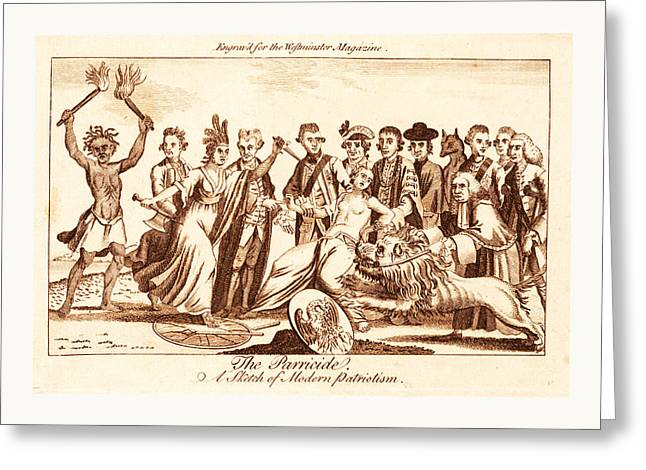 The Parricide A Sketch Of Modern Patriotism, En Sanguine Greeting Card by English School