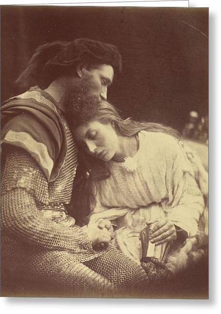 The Parting Of Sir Lancelot And Queen Guinevere Julia Greeting Card by Litz Collection
