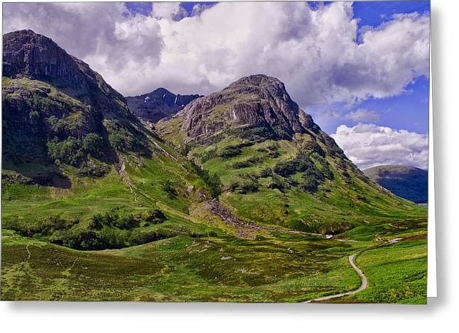 The Pass Of Glencoe Greeting Card by Jacqi Elmslie