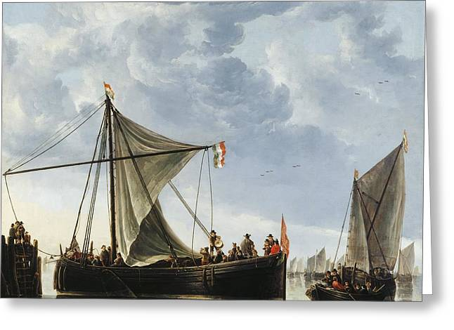 The Passage Boat Greeting Card by Aelbert Cuyp