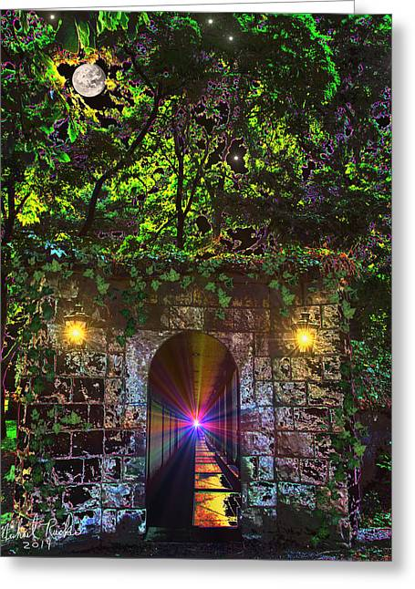 The Passageway  Greeting Card by Michael Rucker