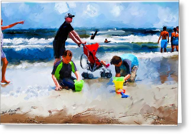 Greeting Card featuring the photograph The Passing Scene At Hilton Head by Ted Azriel