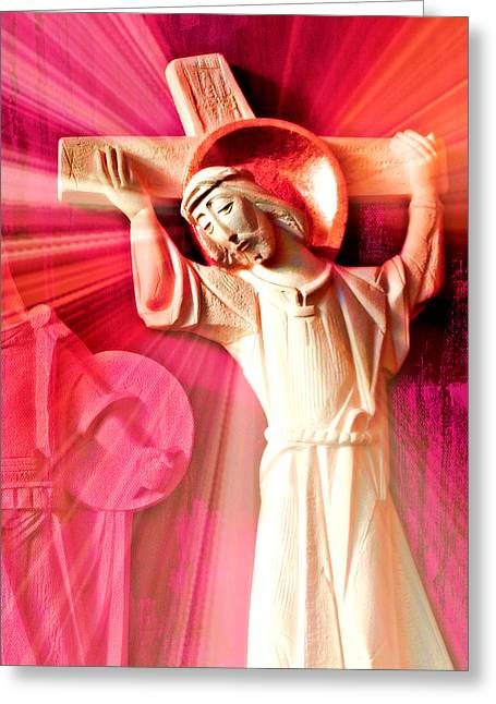 The Passion Of Christ IIi Greeting Card by Aurelio Zucco