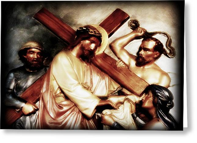 The Passion Of Christ Vii Greeting Card by Aurelio Zucco