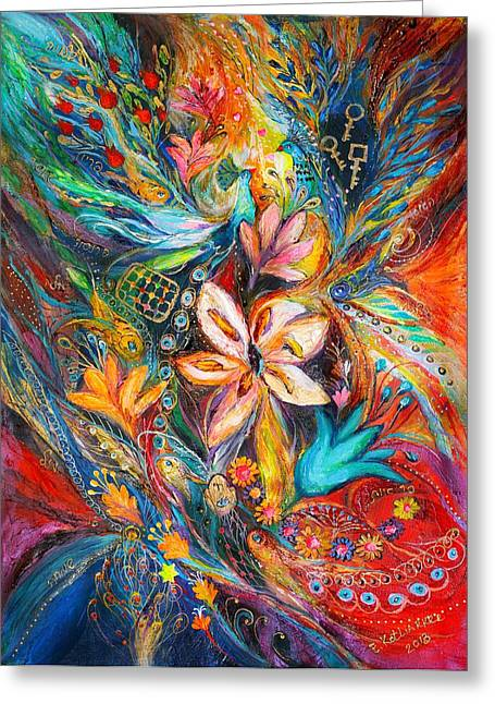 The Passion Of Flowering Greeting Card by Elena Kotliarker