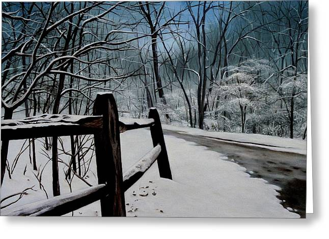 The Path Ahead Greeting Card by Daniel Carvalho