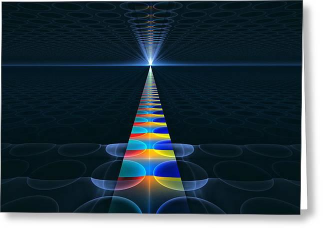 Greeting Card featuring the digital art The Path Ahead by GJ Blackman