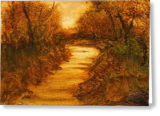 Landscape - Trees - The Path Greeting Card by Barry Jones