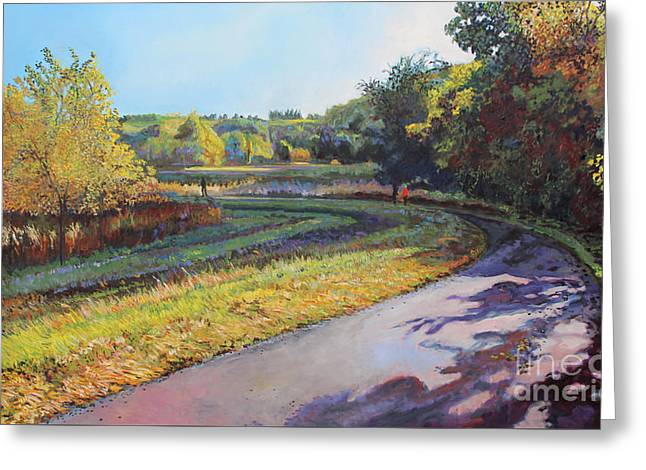 The Path Curves Greeting Card