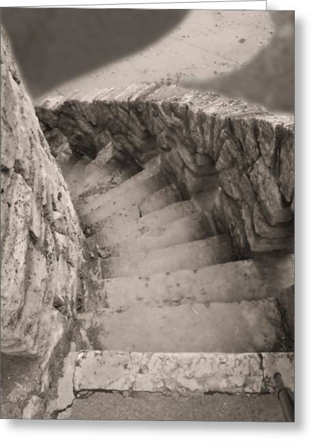 Castle Stairs Greeting Card by Don Spenner