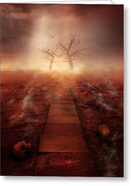 The Path Ot The Dead Greeting Card by Jaroslaw Blaminsky