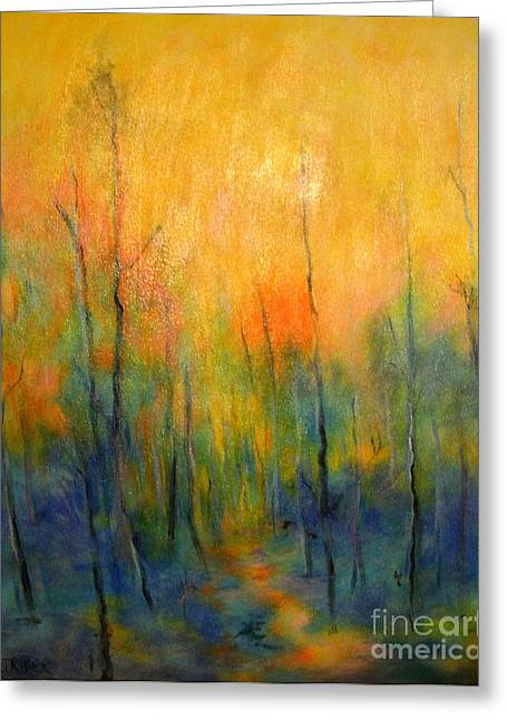 The Path To Forever Greeting Card by Alison Caltrider
