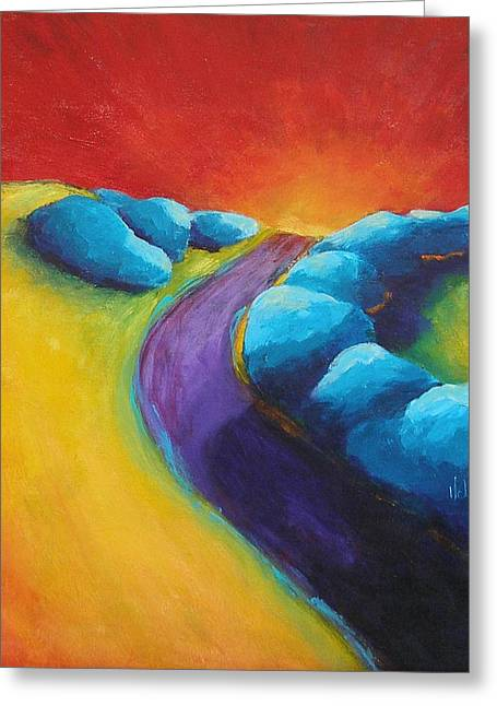 The Path Greeting Card by Valerie Greene