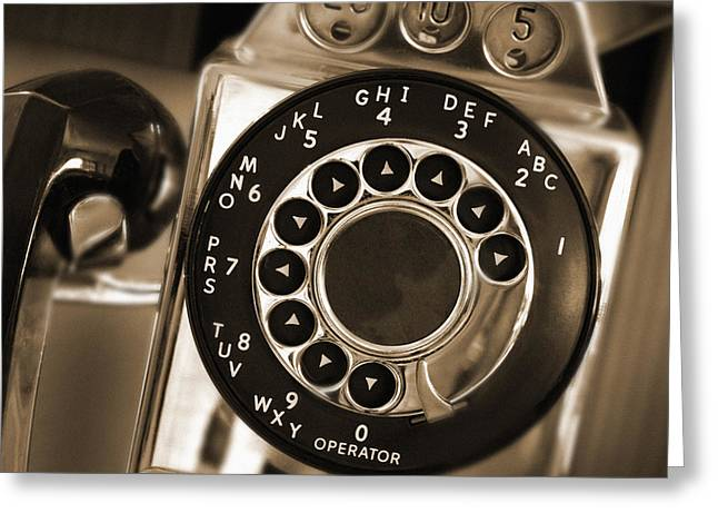 The Pay Telephone Greeting Card by Mike McGlothlen