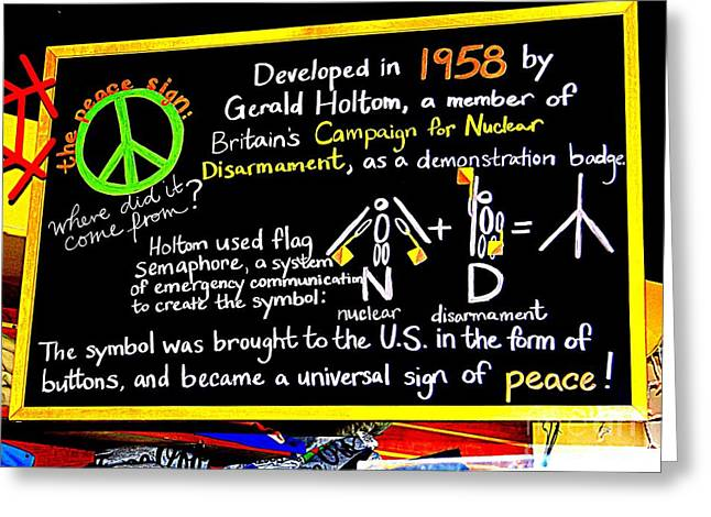 The Peace Sign Greeting Card