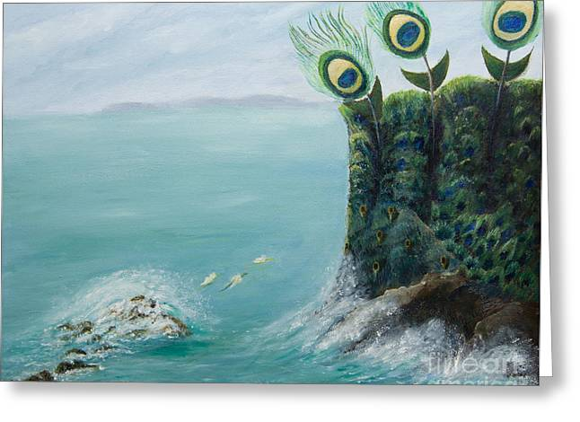 The Peacock Cliffs Greeting Card