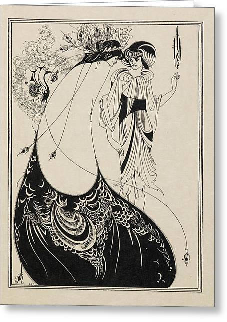 The Peacock Skirt. From Salome . Greeting Card by British Library