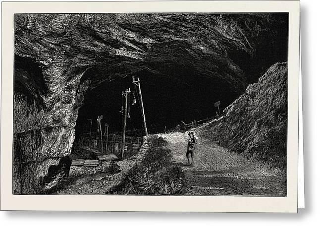 The Peak Cavern, Uk, Great Britain, United Kingdom Greeting Card by English School