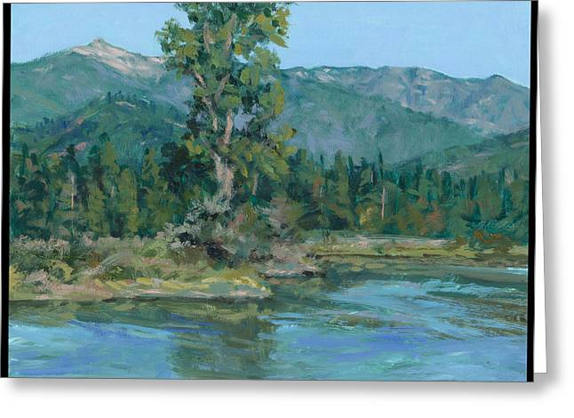 The Peak From Johnson Creek Greeting Card