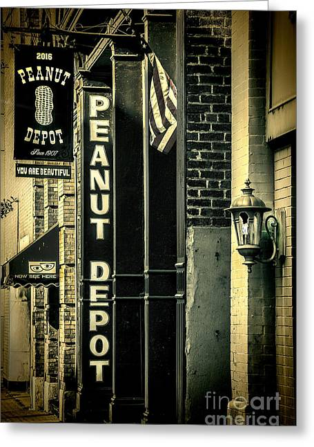 Greeting Card featuring the photograph The Peanut Depot by Ken Johnson