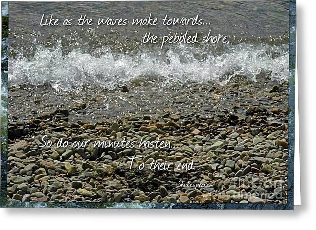 The Pebbled Shore 2 Greeting Card