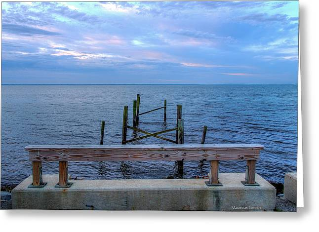The Pier That Once Was Greeting Card by Maurice Smith