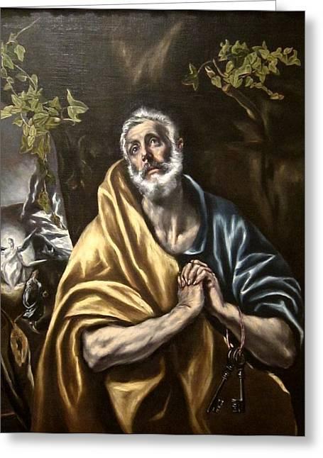 The Penitent Saint Peter Greeting Card