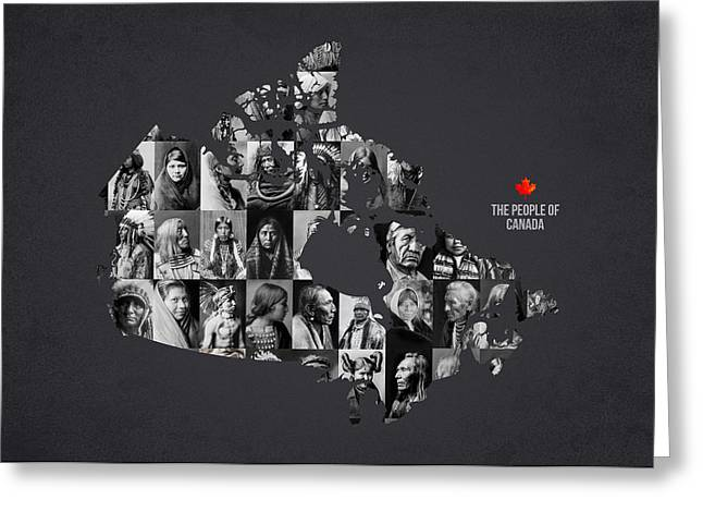 The People Of Canada Greeting Card by Aged Pixel