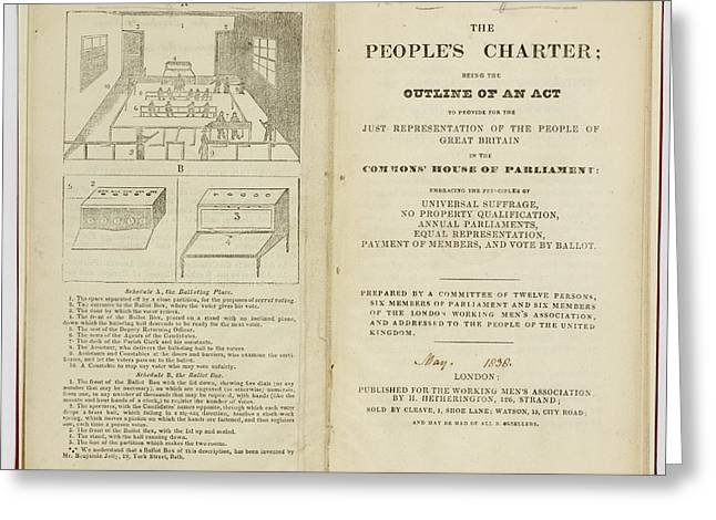 The People's Charter Frontispiece Greeting Card