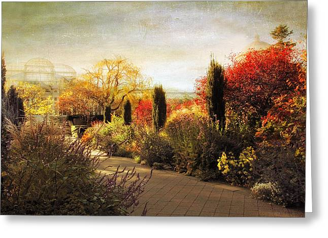 The Perennial Garden Greeting Card by Jessica Jenney