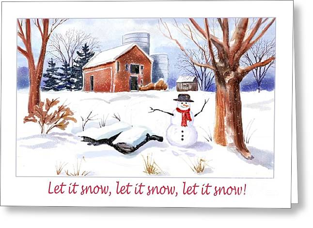 The Perfect Snowman Greeting Card
