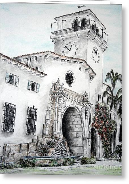 The Perspective Of The Building Greeting Card by Danuta Bennett