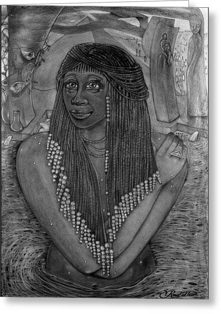 The Pharaoh's Daughter Greeting Card by Vernon Rowlette