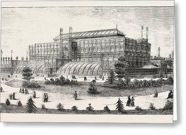 The Philadelphia Exhibition, The Horticultural Buiding Greeting Card