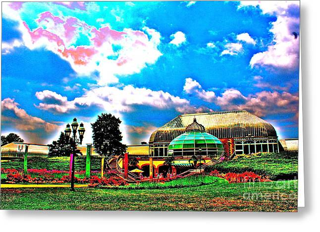 The Phipps Conservatory Greeting Card by Jay Nodianos