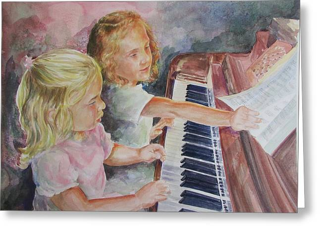The Piano Lesson Greeting Card