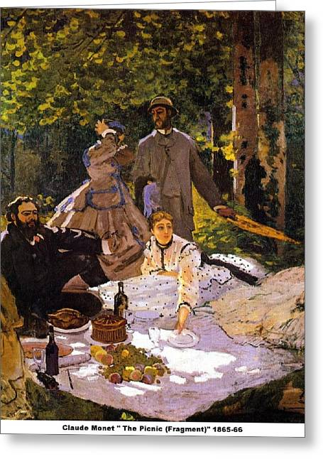 The Picnic Painting by Claude Monet