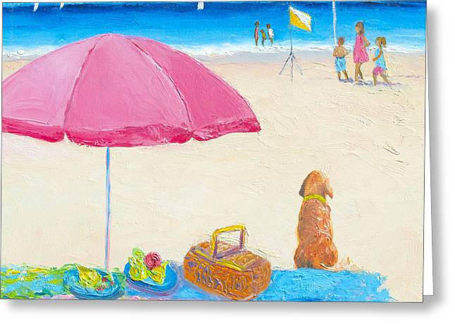The Picnic Greeting Card by Jan Matson