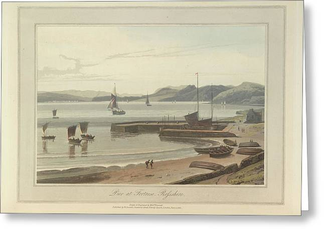 The Pier At Fortrose In Rosshire Greeting Card by British Library