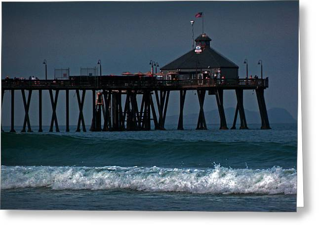 The Pier At Imperial Beach Greeting Card