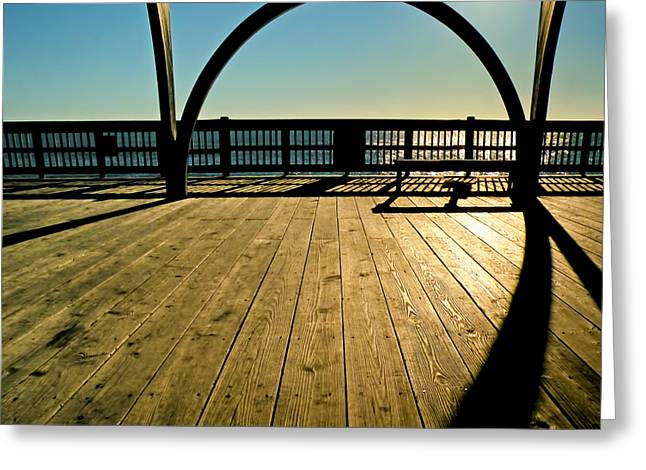 The Pier At Tybee Island Greeting Card by Steven Michael