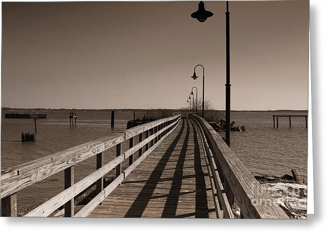 The Pier Greeting Card by David Jackson