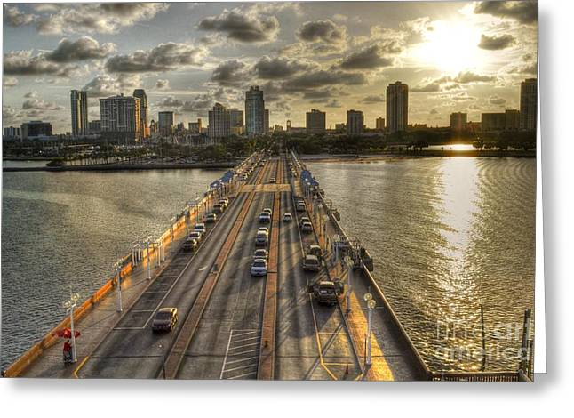 The Pier In Saint Petersburg Florida Greeting Card