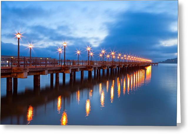 The Pier Greeting Card by Jonathan Nguyen