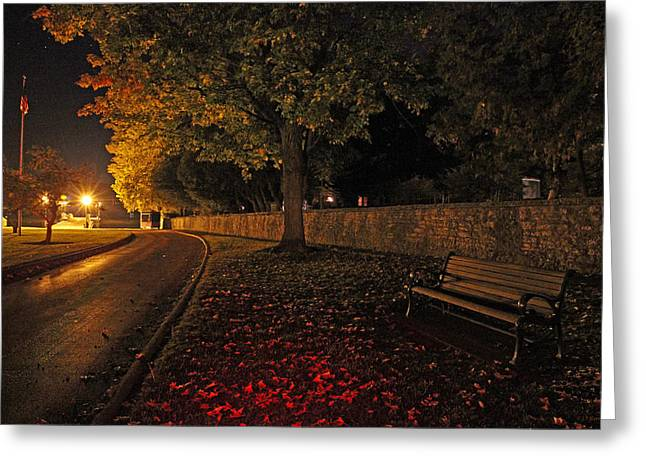 The Pier On An Autumn Evening Greeting Card