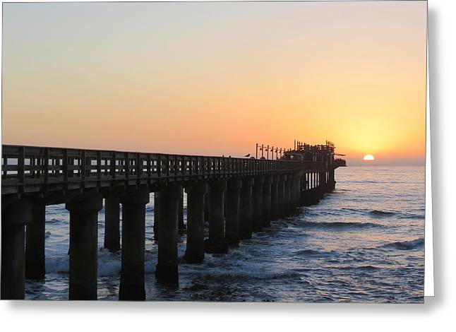 Greeting Card featuring the photograph The Pier by Ramona Johnston